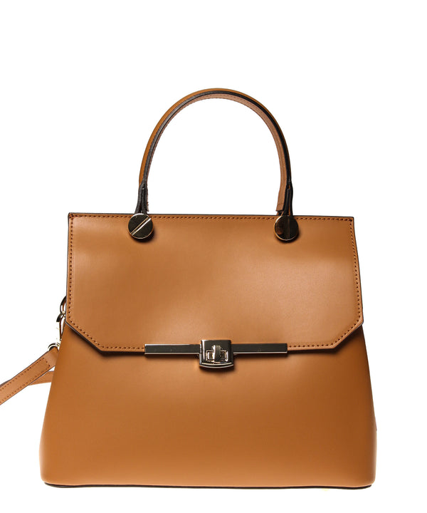 Italian Turn Lock Satchel
