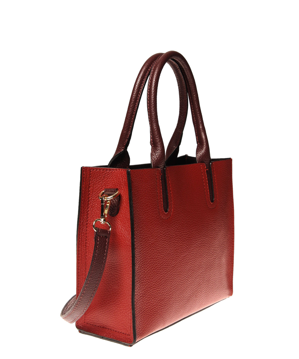 Italian Cut-Out Handle Satchel (4397079593044)
