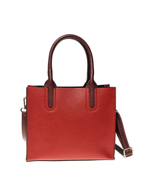 Italian Cut-Out Handle Satchel