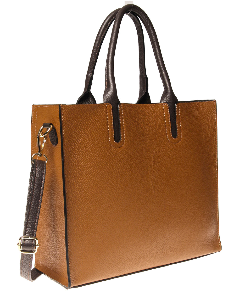 Italian Cut-Out Handle Tote (4397076938836)