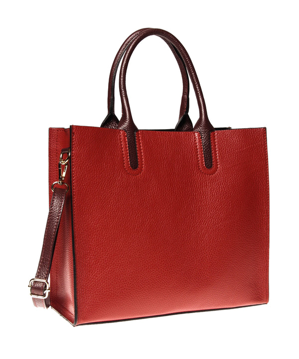 Italian Cut-Out Handle Tote