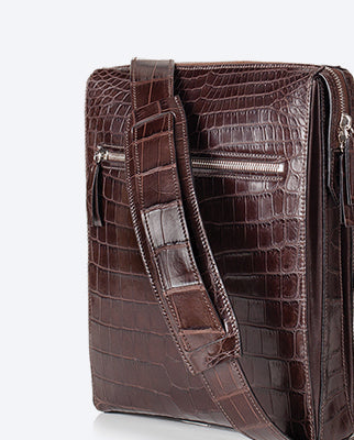 Crocodile Leather Business Bags