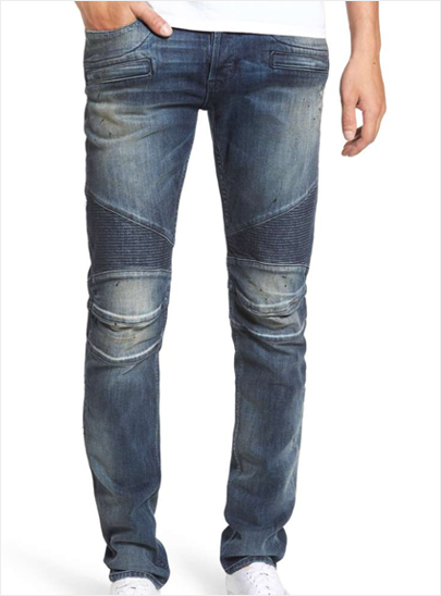 Men's modern slim stretch denim pants