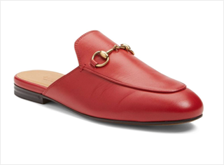 Women's loafer mule shoe