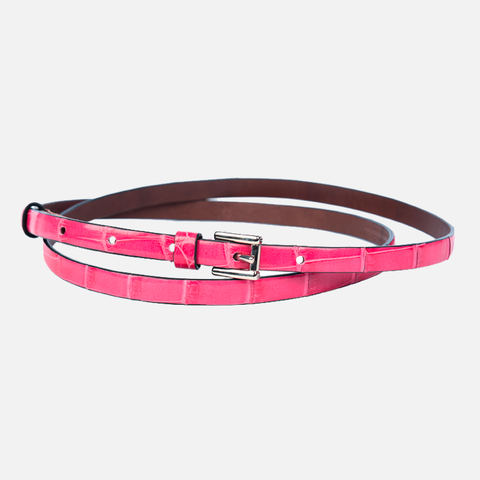 Crocodile Skinny Belt