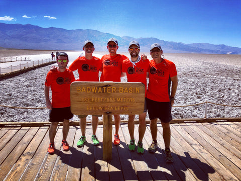 Harvey Lewis and his Badwater Crew: Patrick Hasler, Crew Chief Matt Garrod, myself, Chad Wolf and Peter Matus.