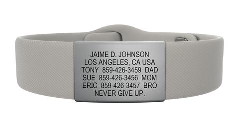 ROAD iD Elite Plus Gunmetal Pin-Tuck ID Bracelet
