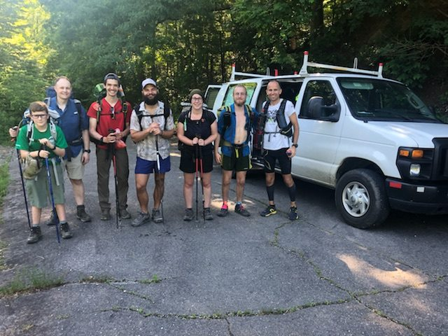 Harvey with Hikers