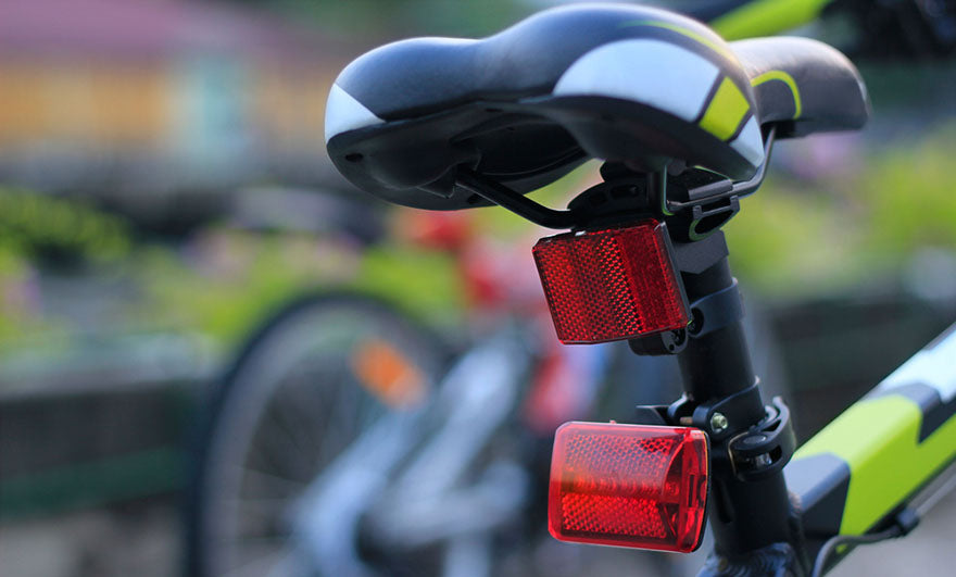 bike seat and reflectors