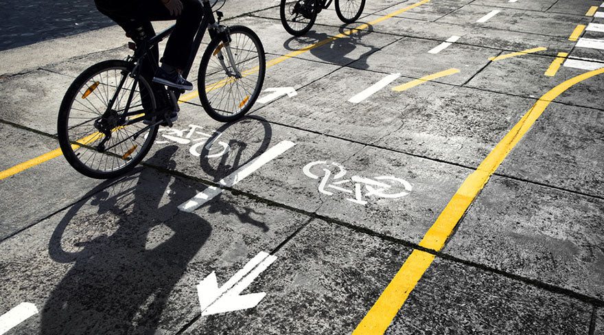 bikes in bicycle lane road