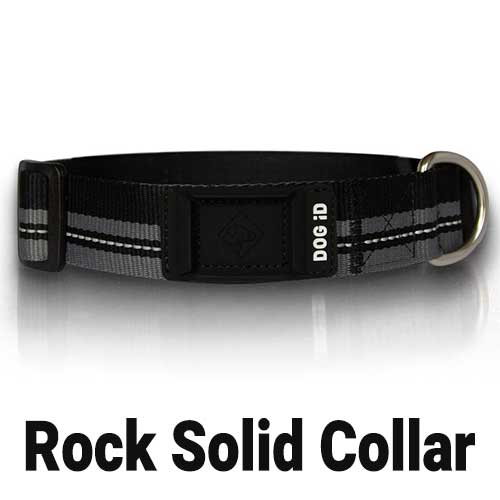 Black and Gray Rock Solid Collars