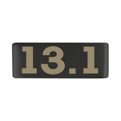 13mm Graphite 13.1 Half Marathon Badge for ROAD iD