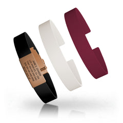 Wrist ID Elite Silicone Clasp 13mm Rose Gold