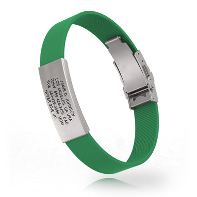 The Green 13mm Silicone Clasp