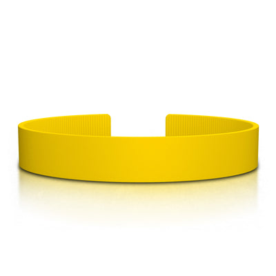ROAD iD Replacement Band 13mm Yellow Silicone Clasp