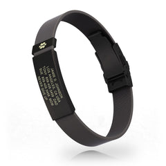 Medical ID Elite Silicone Clasp 13mm Graphite