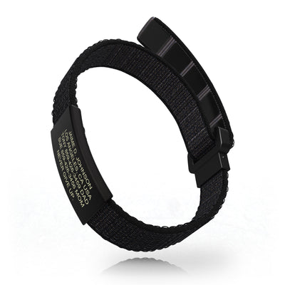 ROAD iD Wrist ID Bracelet 13mm Graphite on Cosmic Nylon Loop