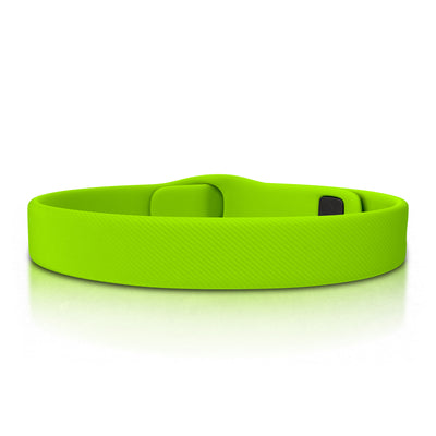 ROAD iD Bracelet 13mm Replacement Band Graphite on Lime Pin Tuck