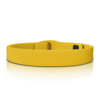 ROAD iD Bracelet 13mm Replacement Band Graphite on Yellow Pin Tuck