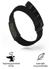 Wrist ID Sport Nylon Loop 19mm Graphite