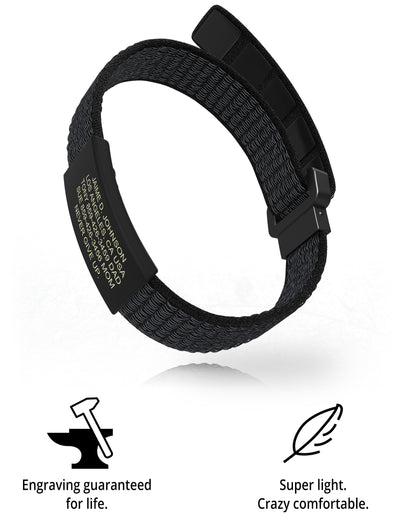 Wrist ID Sport Nylon Loop 13mm Graphite