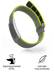Wrist ID Sport Nylon Loop 13mm Slate