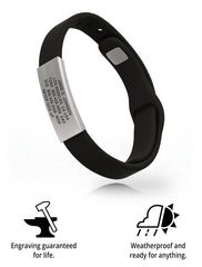 Wrist ID Sport Pin-Tuck 13mm Slate