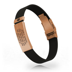 Medical ID Elite Silicone Clasp 13mm Rose Gold
