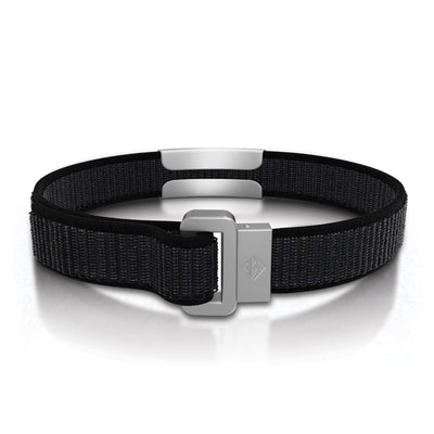 ROAD iD Wrist ID Bracelet 13mm Slate on Cosmic Nylon Loop Reverse Side