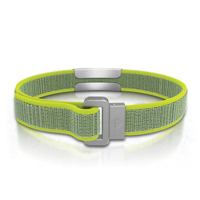 ROAD iD Wrist ID Bracelet 13mm Slate on Neon Nylon Loop Reverse Side