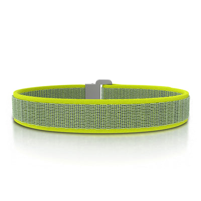 ROAD iD Bracelet 13mm Replacement Band Slate on Neon Nylon Loop