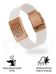 Wrist ID Elite Silicone Clasp 19mm Rose Gold