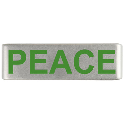 19mm Slate Badge Peace Joy and Love