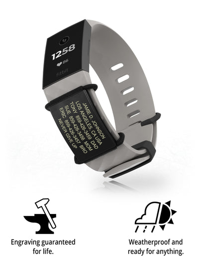 Sidekick Medical ID for Fitbit + Garmin