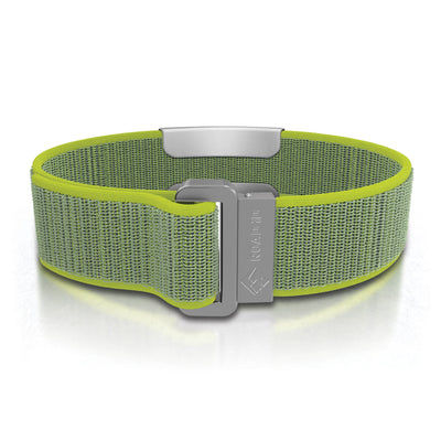 ROAD iD Wrist ID Bracelet 19mm Slate on Neon Nylon Loop Reverse Side