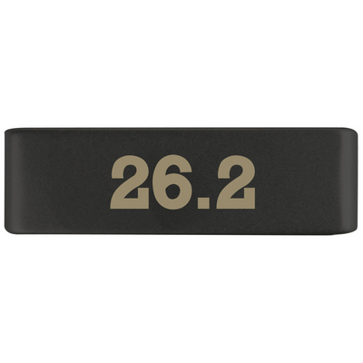 19mm Graphite 26.2 Marathon Badge for ROAD iD