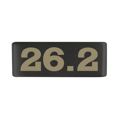 13mm Graphite 26.2 Marathon Badge for ROAD iD