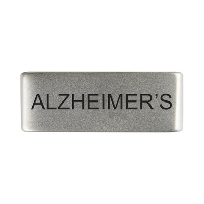 13mm Slate Alzheimer's Badge for ROAD iD