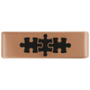 19mm Rose Gold Autism Puzzle Badge for ROAD iD