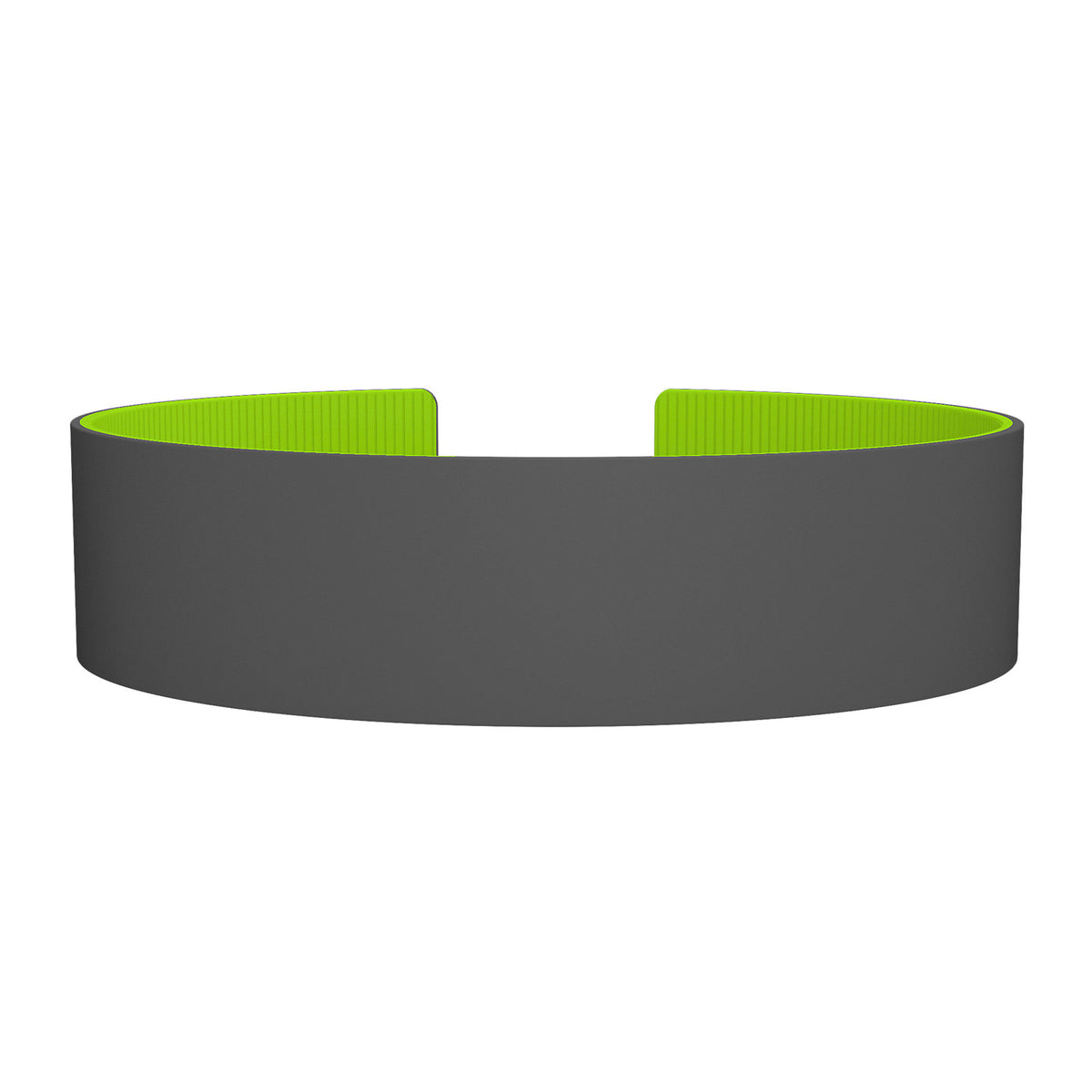 ROAD iD Replacement Band 19mm Gray/Grasshopper Silicone Clasp