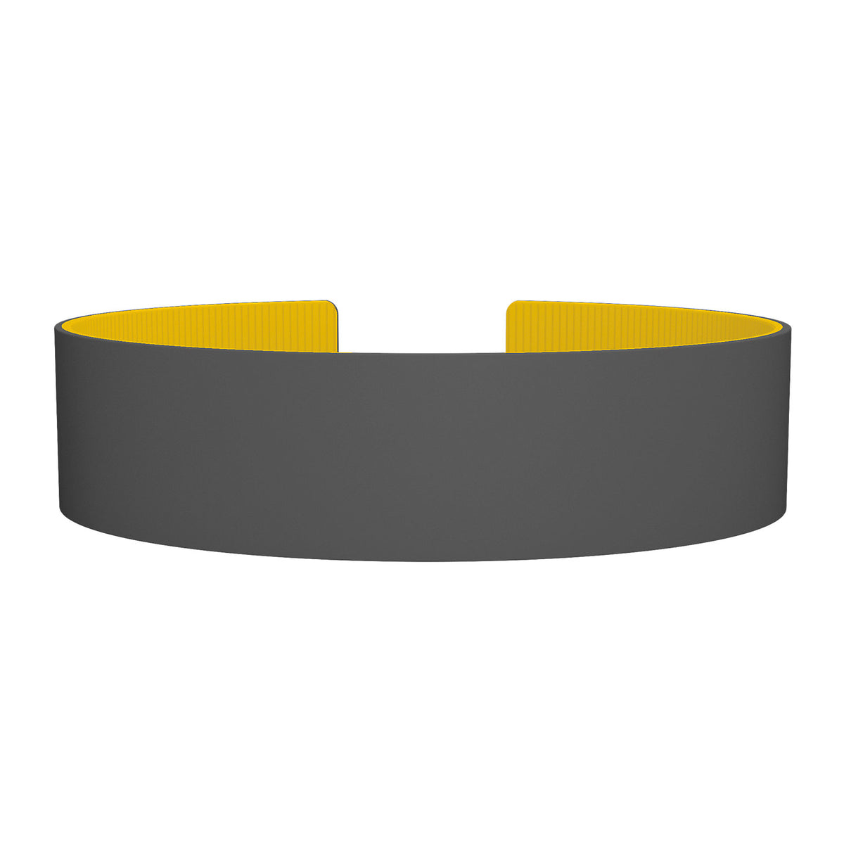 ROAD iD Replacement Band 19mm Gray/Banana Silicone Clasp