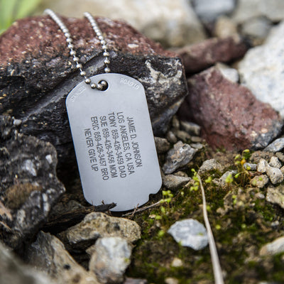 The Fixx ID dog tag looking rugged