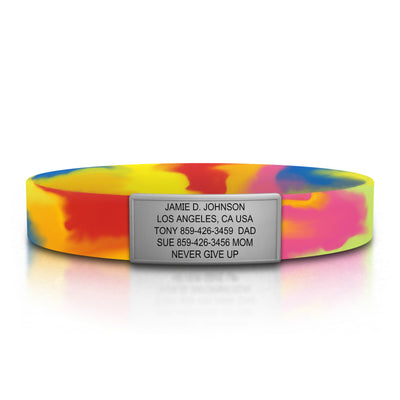 Wrist ID Tie-Dye Stretch 13mm Rugged