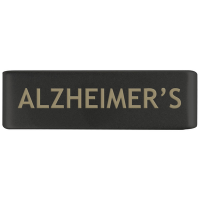 19mm Graphite Alzheimer's Badge for ROAD iD