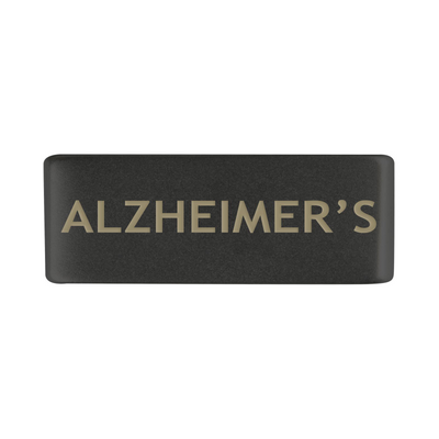 13mm Graphite Alzheimer's Badge for ROAD iD