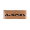 13mm Rose Gold Alzheimer's Badge for ROAD iD