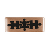 13mm Rose Gold Autism Puzzle Badge for ROAD iD