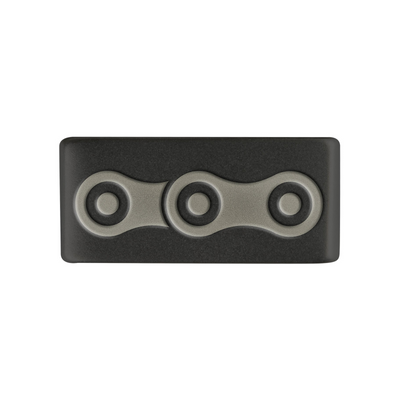 Accessory Badge - Graphite 13mm