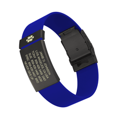 Medical ID Elite Silicone Clasp 19mm Graphite