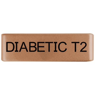 19mm Rose Gold Diabetic Type 2 Badge for ROAD iD